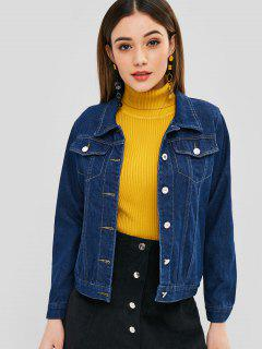 Dark Wash Denim Jean Jacket - Denim Dark Blue M