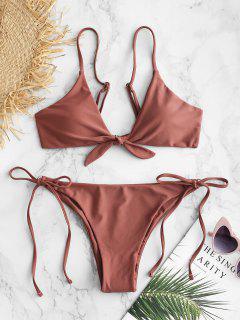ZAFUL Bikini String Noué - Rouge à Lèvres Rose M