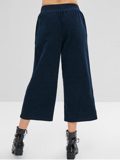 Pantalones de pana ancha ZAFUL - Cadetblue S Mobile