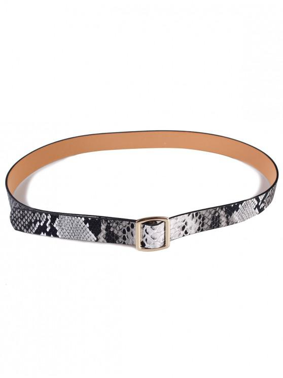 Cinturón de cintura holeless con diseño de serpiente - Gris