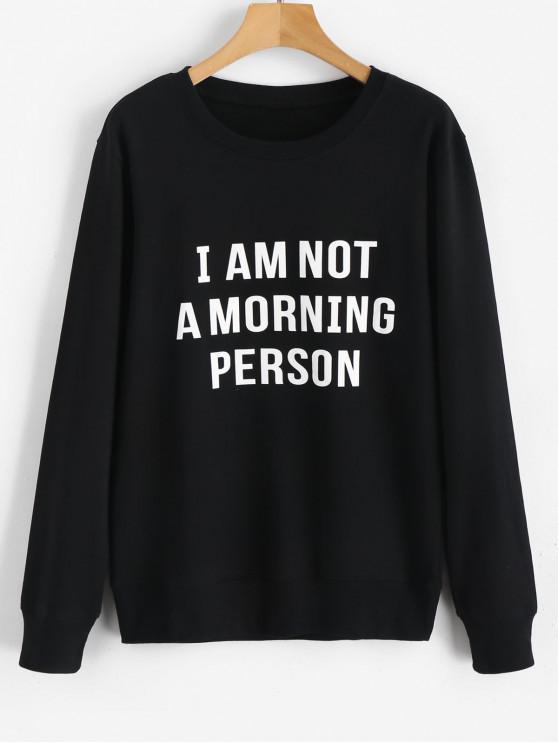 buy I Am Not A Morning Person Sweatshirt - BLACK 2XL