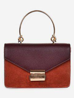 PU Metal Hasp Design Handbag - Bright Orange