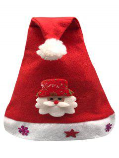 Santa Claus Snowflake Star Party Hat - Lava Red