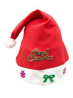 MERRY CHRISTMAS Party Decoration Hat - Lava Red