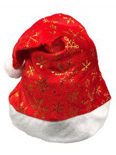 Novelty Snowflake Pattern Christmas Hat - Lava Red
