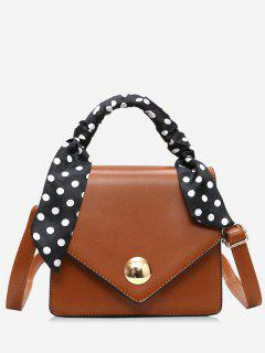 Spot Wideband Cover Design Tote Bag - Brown
