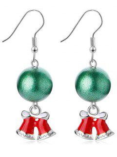 Ball Decor Christmas Bell Hook Earrings - Silver