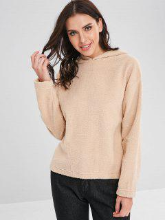 Fuzzy Hoodie - Blanched Almond L