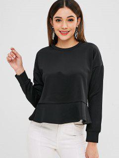 Camiseta Flare En Color Liso - Negro M
