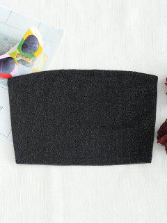 Blusa Corta Sin Tirantes De Bling Bling - Negro S