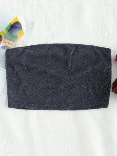 Haut Court Brillant Sans Bretelle - Bleu Cadette L