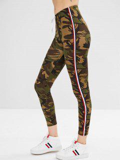 Pantalon Slim Camouflage à Rayures - Camouflage Des Bois M