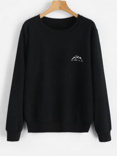 Moon Mountains Graphic Sweatshirt - Black M