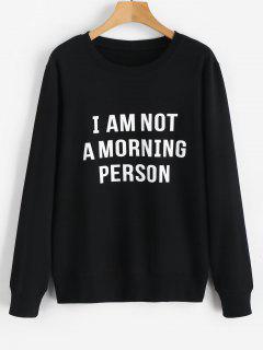 No Soy Una Persona De La Mañana Sudadera - Negro 2xl