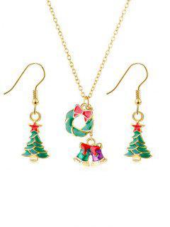 Bowknot Bells Metal Jewelry Set - Gold