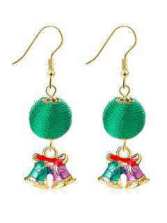 Christmas Festival Bell Hook Earrings - Gold