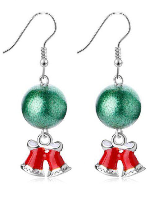 outfit Ball Decor Christmas Bell Hook Earrings - SILVER  Mobile