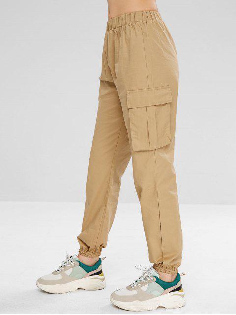 outfits Cargo Pockets Joggers Pants - KHAKI M Mobile