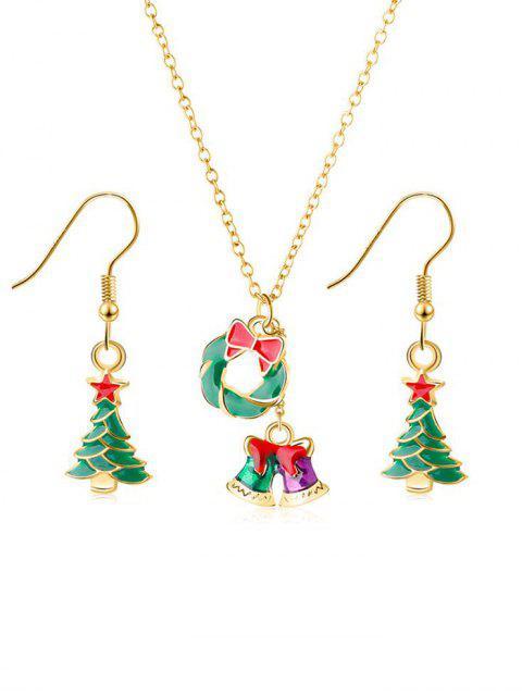 fancy Bowknot Bells Metal Jewelry Set - GOLD  Mobile