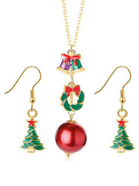 latest Star Christmas Ball Design Jewelry Set - GOLD  Mobile