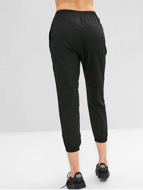 Pantalon de Jogging de Neuf Minutes à Cordon avec Poche - Noir XL Mobile