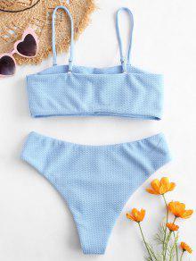 7d744353d 24% OFF   MÁS VENDIDOS  2019 Bikini Bandeau Con Textura De ZAFUL En ...