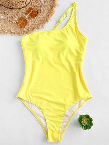 ZAFUL واحد الكتف واحد قطعة ملابس السباحة - الأصفر L