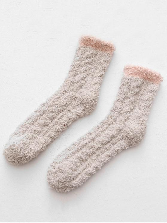 fancy Winter Thicken Floor Socks - LIGHT KHAKI