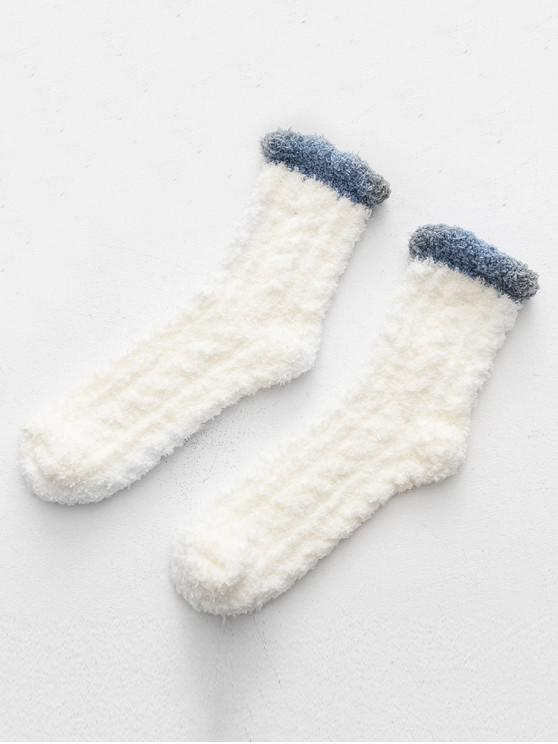 fashion Winter Thicken Floor Socks - WHITE