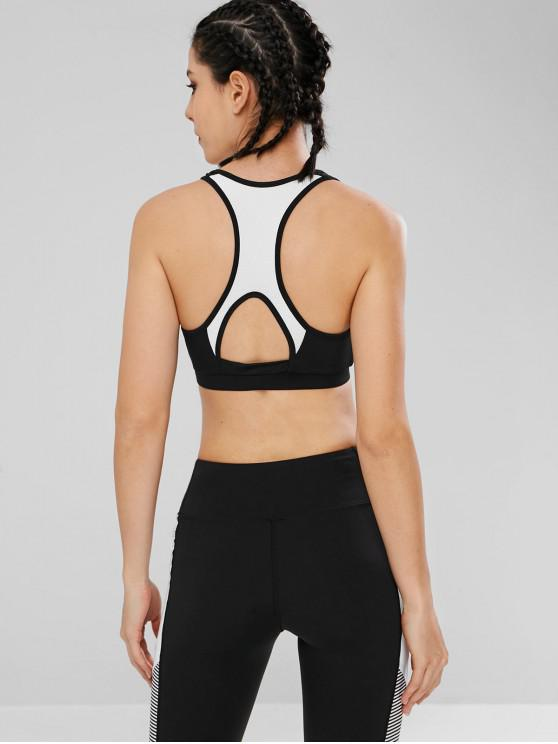 Sujetador de yoga deportivo Racerback acolchado - Negro L