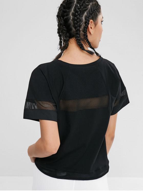 T-Shirt Con Coulisse - Nero L