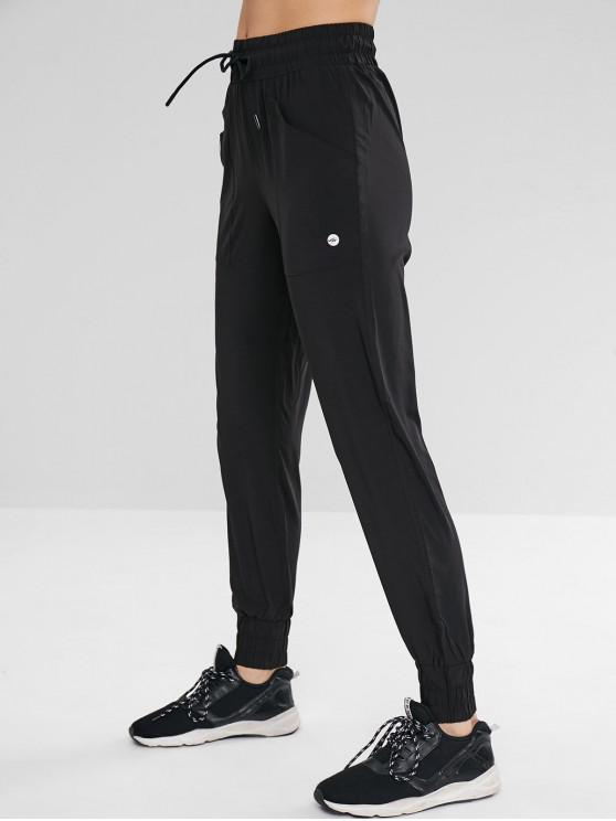 outfits Sport Drawstring Jogger Pants with Pocket - BLACK L