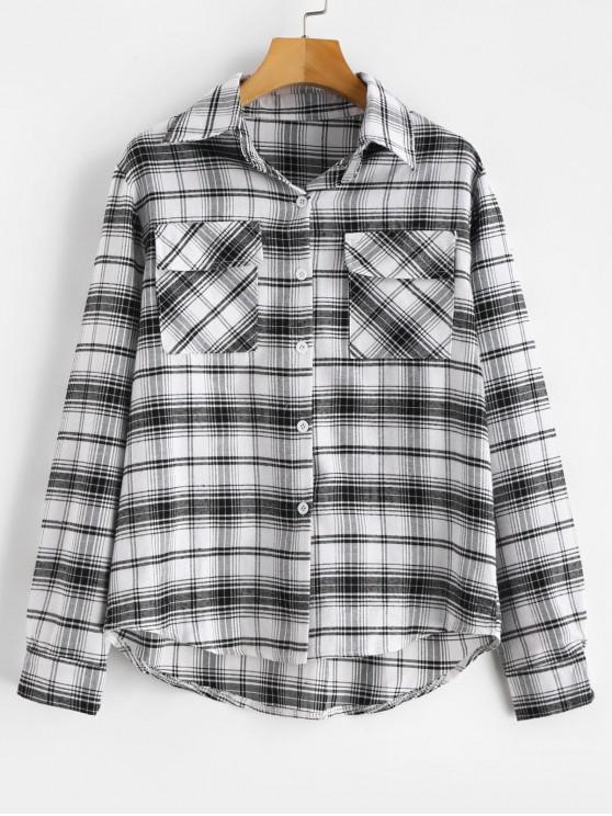 best Plaid Patch Pocket Shirt - MULTI-A S