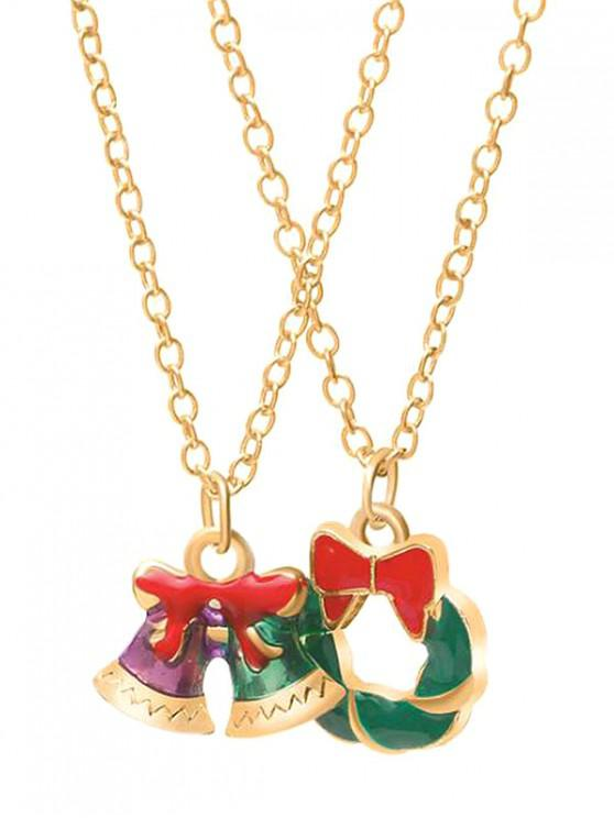 sale Christmas Bell Garland Design Necklaces - GOLD