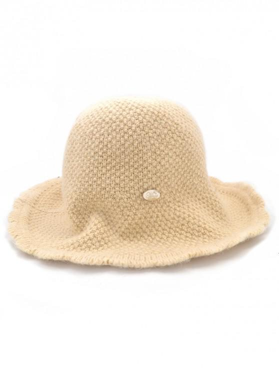 women Solid Color Knitted Holiday Hat - COOKIE BROWN