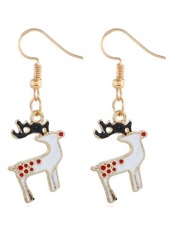shops Alloy Reindeer Design Drop Earrings - GOLD