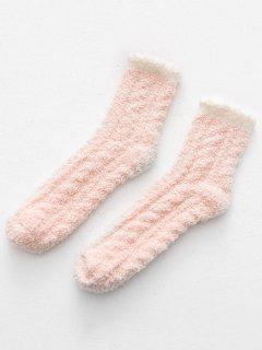 Winter Thicken Floor Socks - Orange Pink