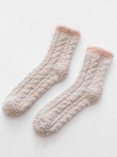 Winter Thicken Floor Socks - Light Khaki