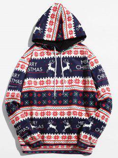 Christmas Geometry Pattern Pullover Hoodie - Ruby Red M