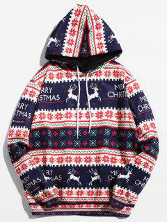 Christmas Geometry Pattern Pullover Hoodie - Ruby Red L