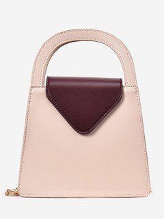 Mini Square Shape Letter Handbag - Deep Brown
