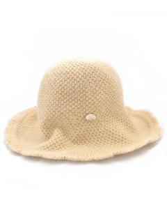 Solid Color Knitted Holiday Hat - Cookie Brown