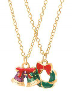 Christmas Bell Garland Design Necklaces - Gold