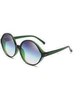 Vintage Plastic Frame Oversized Sunglasses - Fern Green