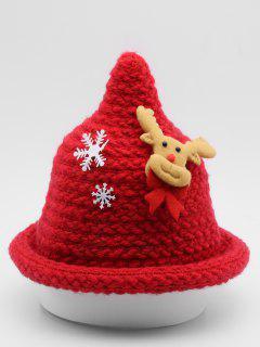 Christmas Elk Snowflake Party Hat - Red