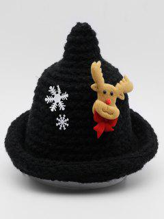 Christmas Elk Snowflake Party Hat - Black