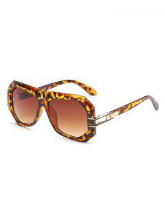 Statement  Irregular Frame Driving Sunglasses - Sandy Brown