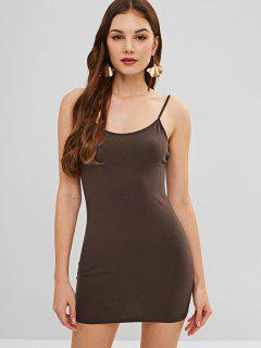 Bodycon Cami Mini Dress - Deep Coffee S