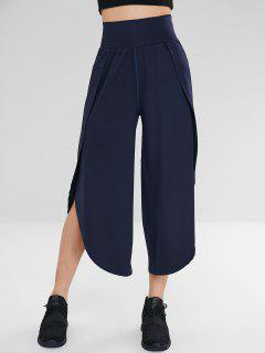 Pantalones Anchos De Split Culotte Gym - Cadetblue L
