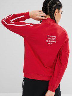 Sweat-shirt à Col Montant Et à Encolure Latérale - Rouge L